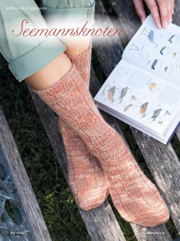 Strickanleitung - Seemannsknoten - Best of Simply Stricken Socken 02/2019