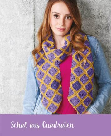 Häkelanleitung - Schal aus Quadraten - Mini Häkeln Vol. 12 Schals & Tücher
