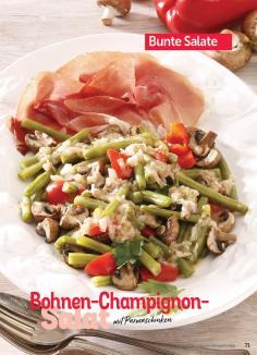 Rezept - Bohnen-Champignon-Salat mit Parmaschinken - Simply Kochen Sonderheft Best of Salate