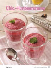 Rezept - Chia-Himbeercreme - Simply Kochen Diät-Rezepte für die ganze Familie