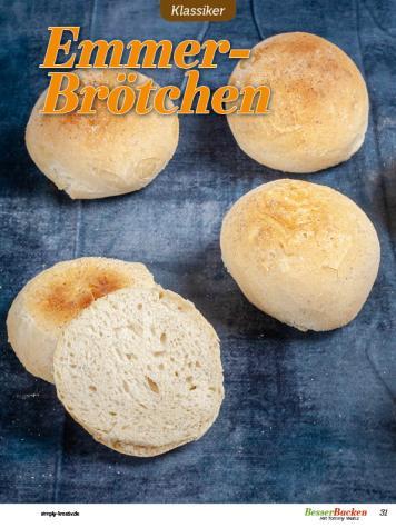 Rezept - Emmer-Brötchen - Besser Backen mit Tommy Weinz – Brötchen