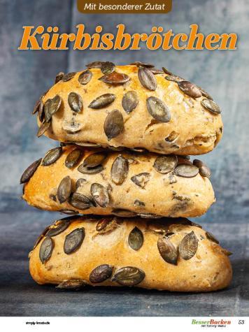 Rezept - Kürbisbrötchen - Besser Backen mit Tommy Weinz – Brötchen