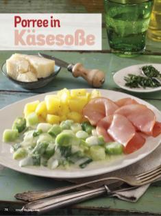 Rezept - Porree in Käsesoße - Simply Kochen Diät-Rezepte für die ganze Familie