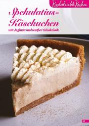 Rezept - Spekulatius-Käsekuchen mit Joghurt und weißer Schokolade - Simply Backen Sonderheft Kuchen – 01/2020