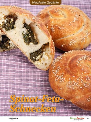 Rezept - Spinat-Feta-Schnecken - Besser Backen mit Tommy Weinz – Brötchen