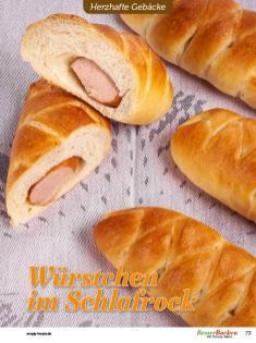 Rezept - Würstchen im Schlafrock - Besser Backen mit Tommy Weinz – Brötchen