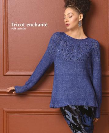 Strickanleitung - Tricot enchante - Pull Jacinthe - Designer Knitting - 01/2020