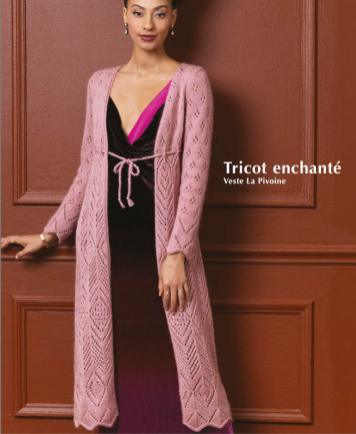 Strickanleitung - Tricot enchante - Veste La Pivoine - Designer Knitting - 01/2020