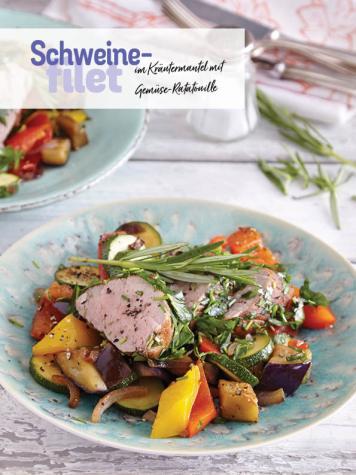 Rezept - Schweinefilet im Kräutermantel mit Gemüse-Ratatouille - Simply Kochen Sonderheft Low Carb
