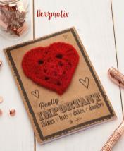 Häkelanleitung - Herzmotiv - Mini Häkeln Vol. 13 Accessoires