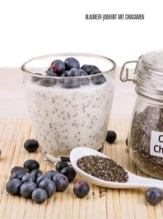Rezept - Blaubeer-Joghurt mit Chiasamen - Bewusst Low Carb Sonderheft: Fasten – 02/2020