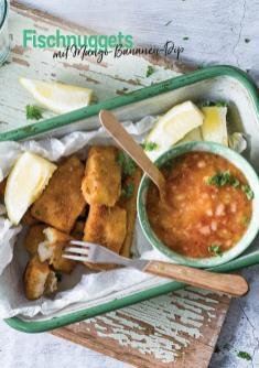 Rezept - Fischnuggets- mit Mango-Bananen-Dip - Simply Kochen Heißluft-Fritteuse