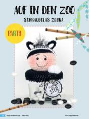 Häkelanleitung - Schraubglas Zebra - Simply Häkeln Sonderheft Deckelüberzüge Teil 2