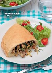 Rezept - Calzone mit Pilz und Spinat - Vegan Food & Living – 03/2020