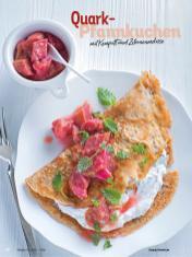 Rezept - Quark-Pfannkuchen mit Kompott und Zitronenmelisse - Simply Kochen Diät-Rezepte für gesunde Ernährung