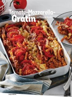 Rezept - Tomate-Mozzarella-Gratin mit Parmaschinken - Simply Kochen Italienische Küche