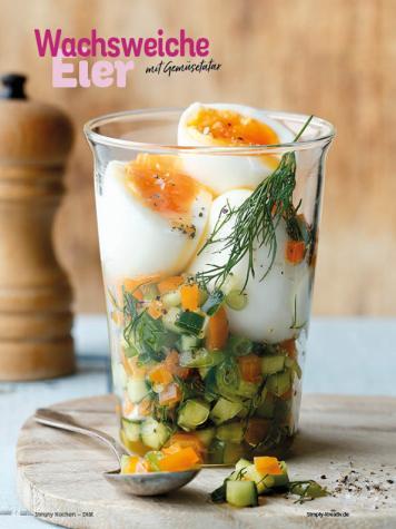 Rezept - Wachsweiche Eier mit Gemüsetatar - Simply Kochen Diät-Rezepte für gesunde Ernährung