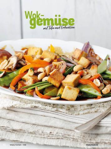 Rezept - Wokgemüse mit Tofu und Erdnüssen - Simply Kochen Diät-Rezepte für gesunde Ernährung