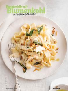 Rezept - Pappardelle mit Blumenkohl und frittierten Salbeiblättern - Simply Kochen mit Vorräten 02/2020