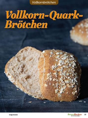 Rezept - Vollkorn-Quark-Brötchen - Brötchen Backen mit Tommy Weinz Teil 2 – 03/2020