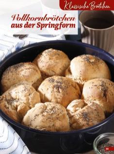 Rezept - Vollkornbrötchen aus der Springform - Simply Backen Extra Brötchen