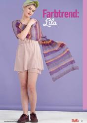 Strickanleitung - Farbtrend: Lila - Bella – Einfach Stricken 03/2020