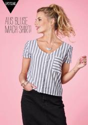 Nähanleitung - Aus Bluse mach Shirt - Simply Nähen 04/2020