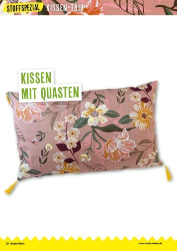 Nähanleitung - Kissen mit Quasten - Simply Nähen 04/2020