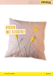 Nähanleitung - Kissen mit Stickerei - Simply Nähen 04/2020