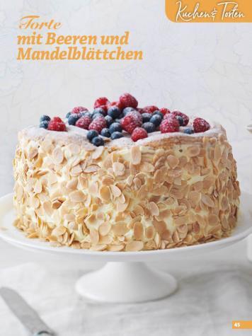 Rezept - Torte mit Beeren und Mandelblättchen - Simply Backen Blätterteig – 02/2020
