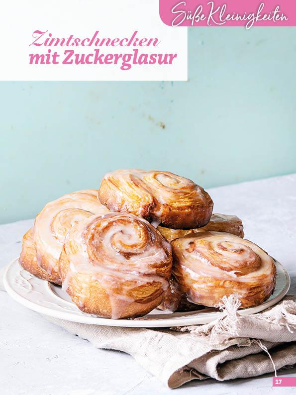 Rezept - Zimtschnecken mit Zuckerglasur - Simply Backen Blätterteig – 02/2020