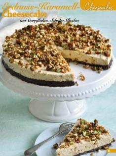 Rezept - Erdnuss-Karamell-Cheesecake mit Cornflakes-Schoko-Boden - Simply Backen Sonderheft Sommertorten – 01/2020