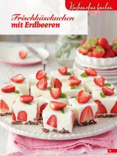 Rezept - Frischkäsekuchen mit Erdbeeren - Simply Backen Sonderheft Sommertorten – 01/2020