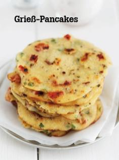 Rezept - Griess-Pancakes - Vegan Food & Living – 04/2020