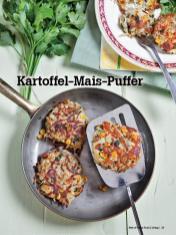 Rezept - Kartoffel-Mais-Puffer - Vegan Food & Living – 04/2020