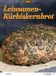 Rezept - Leinsamen-Kürbiskernbrot - Low Carb Backen mit Tommy Weinz – 01/2020