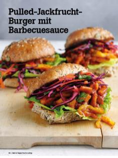 Rezept - Pulled-Jackfrucht-Burger mit Barbecuesauce - Vegan Food & Living – 04/2020