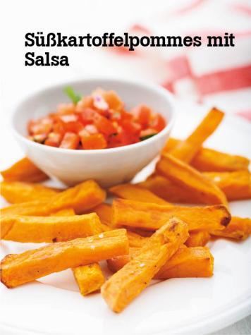 Rezept - Süßkartoffelpommes mit Salsa - Vegan Food & Living – 04/2020