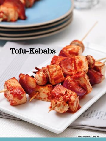 Rezept - Tofu-Kebabs - Vegan Food & Living – 04/2020