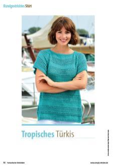 Strickanleitung - Tropisches Türkis - Fantastische Strickideen Sonderheft 04/2020