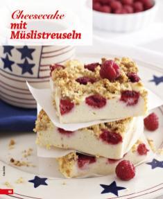 Rezept - Cheesecake mit Müslistreuseln - Simply Backen Blechkuchen – 03/2020