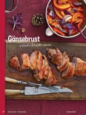 Rezept - Gänsebrust mit Kürbis-Schalotten-Gemüse - Simply Kochen Weihnachten 01/2020