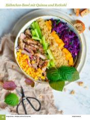 Rezept - Hähnchen-Bowl mit Quinoa und Rotkohl - Simply Kochen Sonderheft: One-Pot-Gerichte