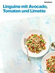 Rezept - Linguine mit Avocado, Tomaten und Limette - Vegan Food & Living – 05/2020