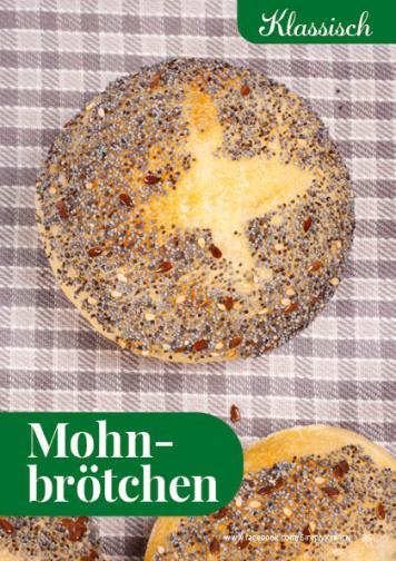Rezept - Mohnbrötchen - Simply Backen kompakt Brötchen – 01/2020