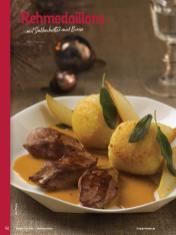 Rezept - Rehmedaillons mit Salbeibutter und Birne - Simply Kochen Weihnachten 01/2020