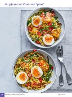 Rezept - Reispfanne mit Panir und Spinat - Simply Kochen Sonderheft: One-Pot-Gerichte