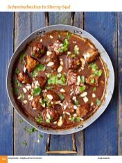 Rezept - Schweinebacken in Sherry-Sud - Simply Kochen Sonderheft: One-Pot-Gerichte