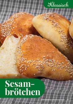 Rezept - Sesambrötchen - Simply Backen kompakt Brötchen – 01/2020