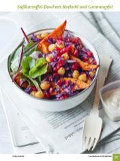 Rezept - Süßkartoffel-Bowl mit Rotkohl und Granatapfel - Simply Kochen Sonderheft: One-Pot-Gerichte